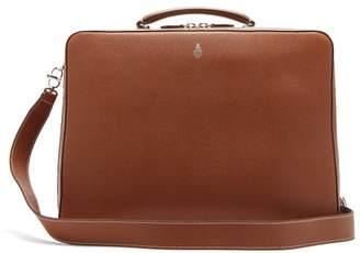 Mark Cross Baker Palmellato Leather Briefcase - Mens - Tan