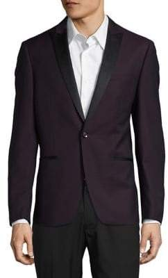 Calvin Klein Two-Tone Wool Suit Jacket