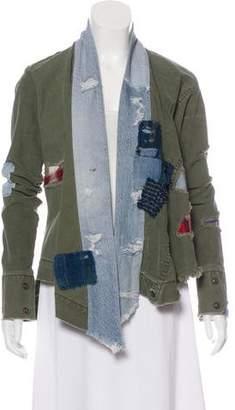 Greg Lauren 2018 Distressed Patchwork Kimono Jacket