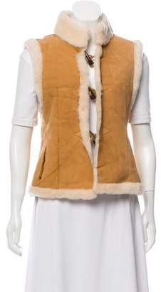Glamour Puss Glamourpuss Shearling Suede Vest