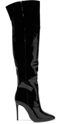 Aquazzura Alma Patent-leather Over-the-knee Boots - Black