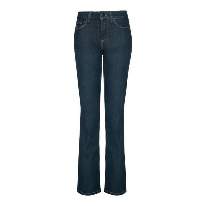 Indigo Barbara Boot Leg Cotton Blend Jeans