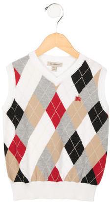 Burberry Boys' Argyle V-Neck Sweater $75 thestylecure.com
