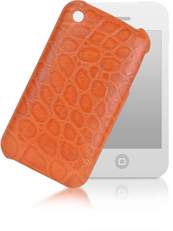 Giorgio Fedon 1919 Croco-Stamped Leather iPhone 3 Case