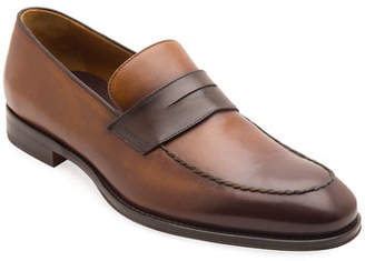 d86cdde4ab1 Bruno Magli Men s Fanetta Burnished Leather Penny Loafers