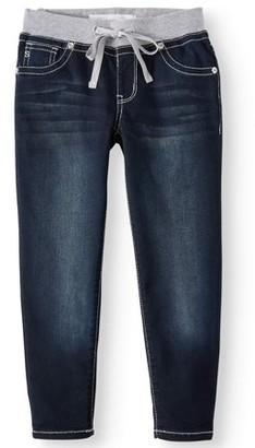 Seven7 Knit Waist Ankle Skinny Jean (Big Girls)