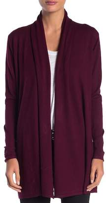 DREAMERS BY DEBUT Open Front Lightweight Knit Cardigan