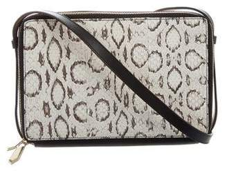 Reed Krakoff Snakeskin Double Zip Crossbody Bag