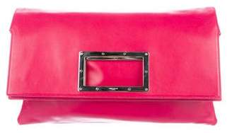 Saint Laurent Square Handle Fold-Over Clutch