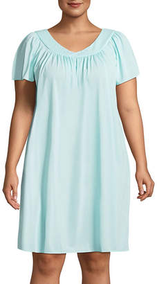 Miss Elaine COLLETTE BY Collette By Short Sleeve Nightgown - Plus