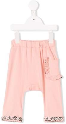 Fendi ruffle pocket trousers