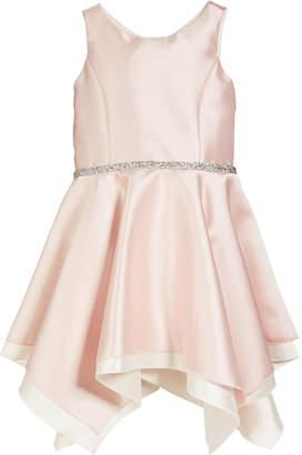 Zoe Sleeveless Handkerchief Dress with Crystal Belt Size 4-6X