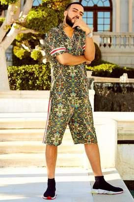 boohoo French Montana Tropical Print Shorts Co-ord