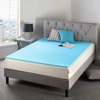 Spa Sensations by Zinus 3 Inch Memory Foam Mattress Topper, TorsoTec Pressure Relieving Design