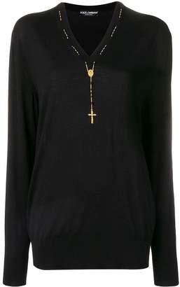 Dolce & Gabbana V Neck Pullover