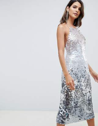 Asos Design DESIGN midi pencil dress in all over ombre sequin