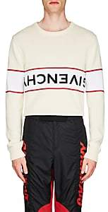Givenchy Men's Upside-Down-Logo Cotton Sweater - White
