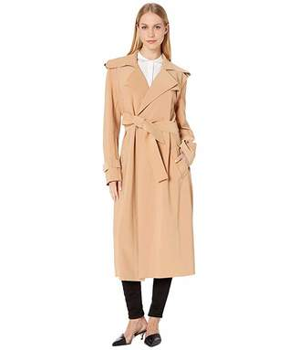 Norma Kamali KAMALIKULTURE by Double Breasted Trench To Midcalf