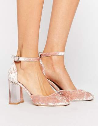 ASOS PRIMA DONNA Clear Block Heels $64 thestylecure.com