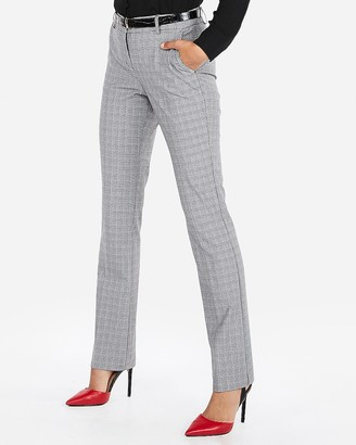 Express Mid Rise Plaid Barely Boot Columnist Pant