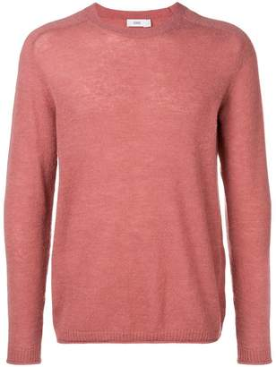 Closed long-sleeve fitted sweater