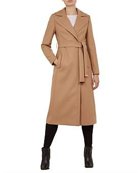 Ted Baker Gabella Wide Collar Long Wool Coat