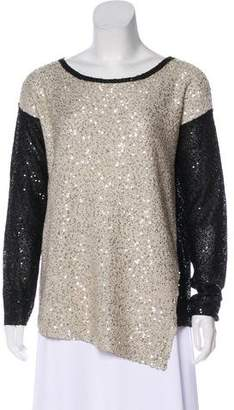 DKNY Embellished Colorblock Sweater
