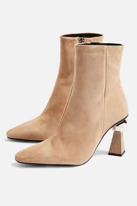 Topshop HEXAGON Sculpture Heel Boots