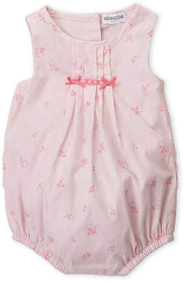 Absorba Newborn Girls) Pink Printed Romper