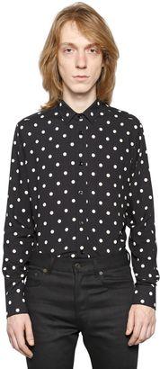 Polka Dots Print Viscose Shirt $750 thestylecure.com