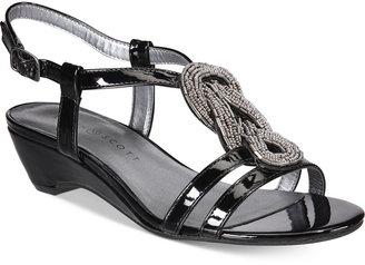 Karen Scott Clemm Wedge Sandals, Created for Macy's Women's Shoes $49.50 thestylecure.com