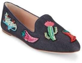 Kate Spade Saville Denim Smoking Loafers