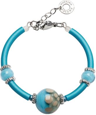 Antica Murrina Papaya 2 Light Blue Bracelet w/Pastel Murano Glass Beads $55 thestylecure.com
