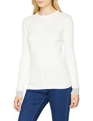 Crew Clothing Women's Heritage Cable Crew Neck Jumper,16