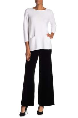 Joan Vass Velvet Wide Leg Pants