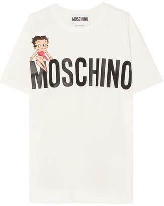 Moschino - Betty Boop Oversized Printed Cotton-jersey T-shirt - White