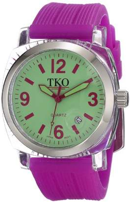 TKO ORLOGI Women's TK558-GPR Milano Junior Acrylic Case Dial Watch