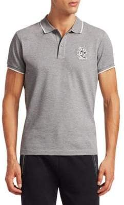 Moncler Logo-Embroidered Polo