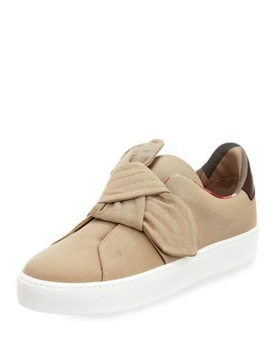 Burberry Westford Fabric Knotted Sneaker, Honey