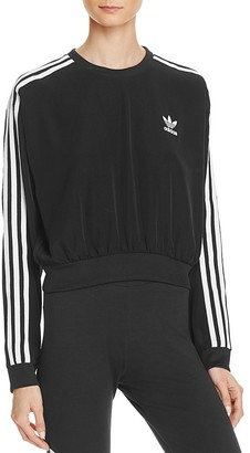 adidas Originals Three Stripe Crop Sweatshirt $65 thestylecure.com