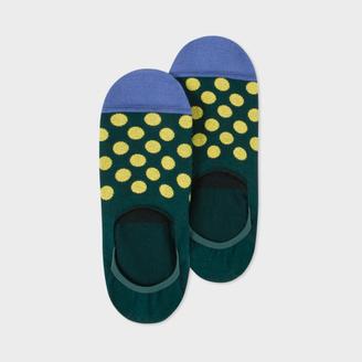 Men's Dark Green Polka Dot Loafer Socks $20 thestylecure.com
