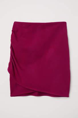 H&M Draped Skirt - Black - Women