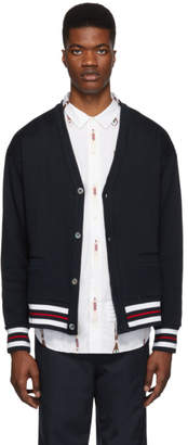 Thom Browne Navy Oversized Cardigan