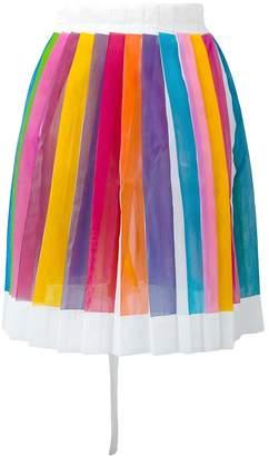 Io Ivana Omazic rainbow striped pleat skirt
