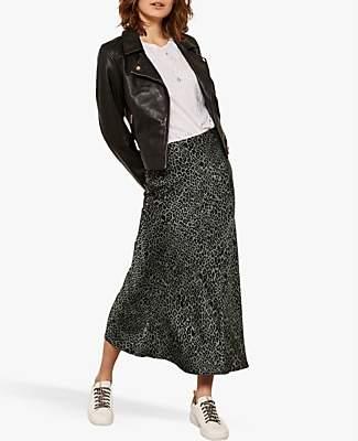 ee215d6010 Mint Velvet Phillippa Leopard Motif Midi Skirt, Multi
