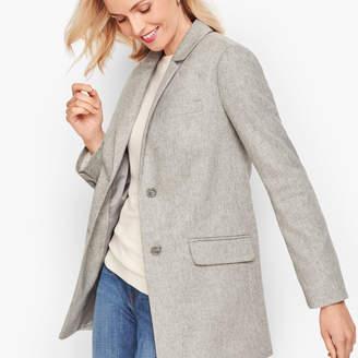 Talbots Brushed Italian Wool Long Blazer