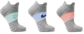 Nike Set Of Three Intarsia Dri-fit Stretch-knit Socks