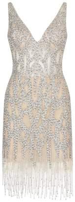 Jovani Crystal Embellished Mini Dress