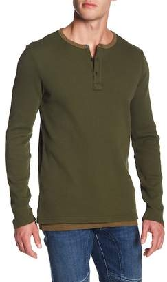 Scotch & Soda Long Sleeve Thermal Henley Shirt