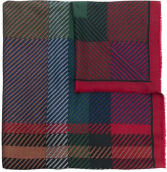 Christian Dior Pre-Owned checked scarf